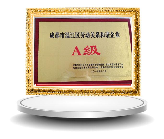 萃聯溫江勞動關系和諧企業1A